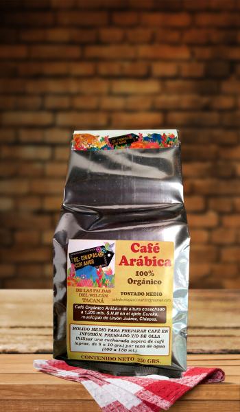 Cafe Organico Arabica 250gr DCHA