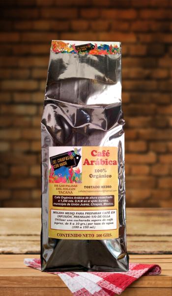 Cafe Organico Arabica 500gr DCHA